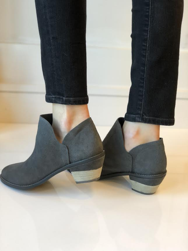 Kenmare Bootie - Charcoal Suede