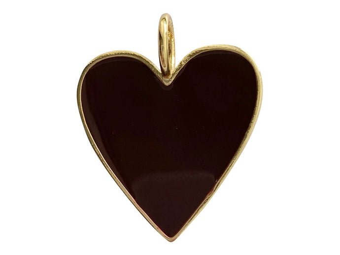Small Heart Charm - Black