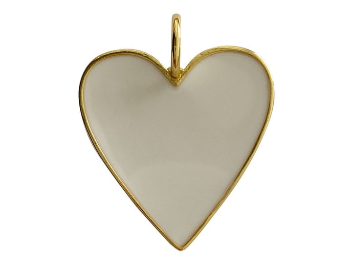 Large Heart Charm - Cream