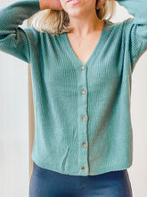 Teal Button Up Cardigan
