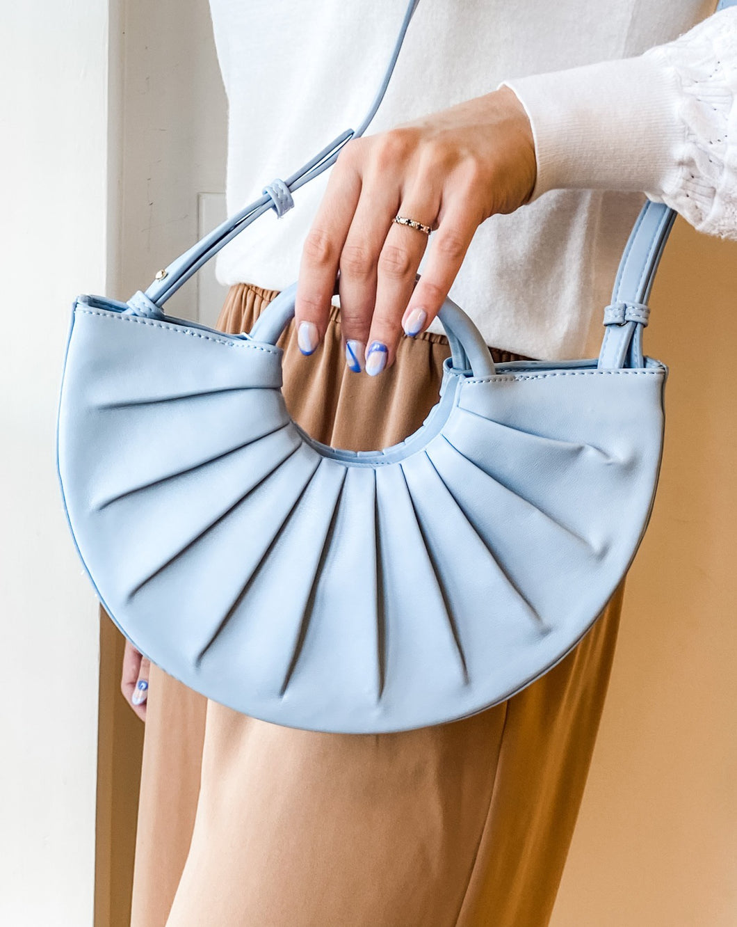 Karlie Handle Bag - Blue
