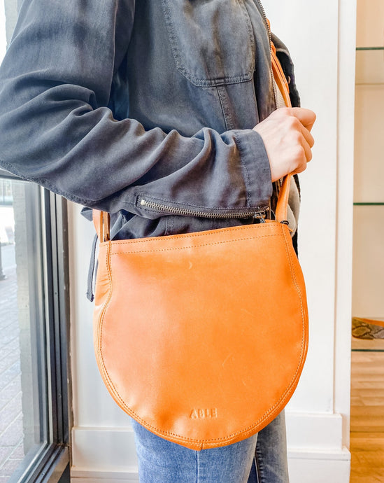 Naomi Saddle Bag - Cognac
