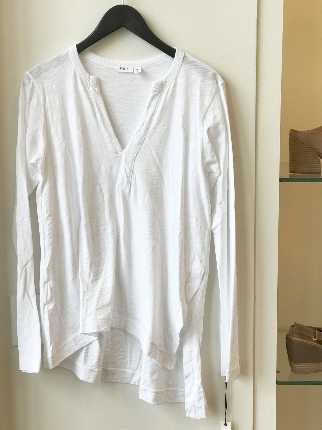 Open Split Neck Tunic - White