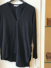 Open Split Neck Tunic - Black