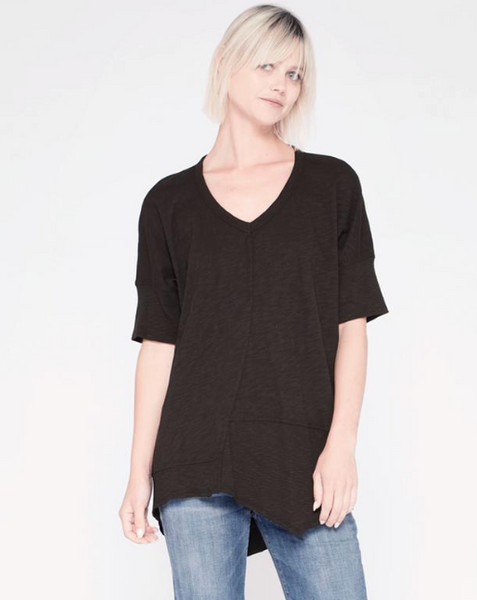 Twisted Seam Top - Black