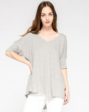 Twisted Seam Top - Heather Grey