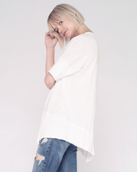 Twisted Seam Top - White