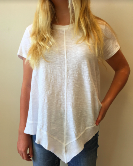 White Short Sleeve Tunic