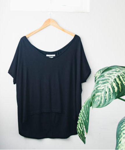 Sedona Relaxed Tee - Black