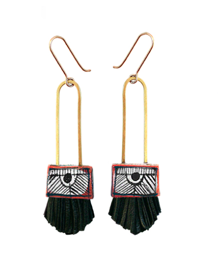Regalo Shortie Earring - Black