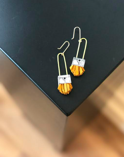 Regalo Shortie Earring - Turmeric