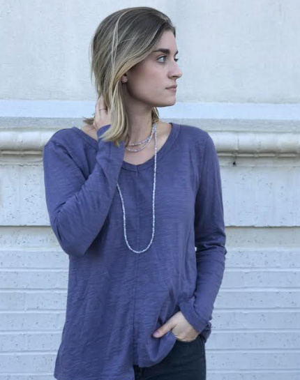 Extreme V-Neck Shifted Tunic- Fig