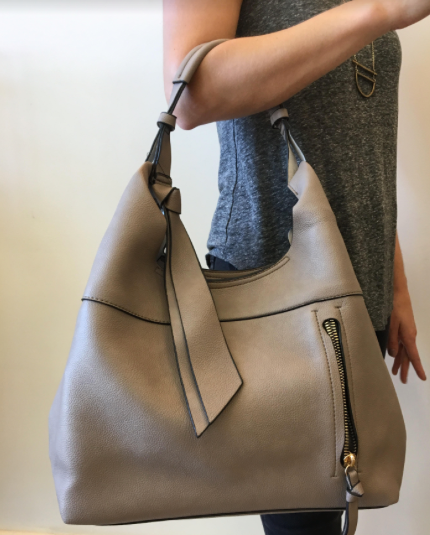 Clara Shoulder Bag - Taupe