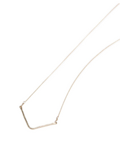 Hammered Valley Necklace- Gold