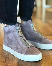 Lena High Top Sneaker- Mauve