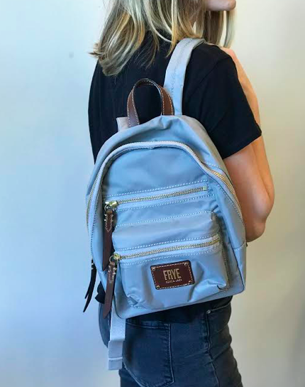 Ivy Mini Backpack- Light Grey