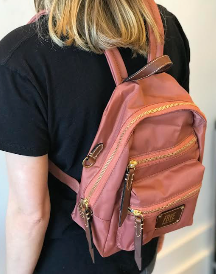 Ivy Mini Backpack- Dusty Rose
