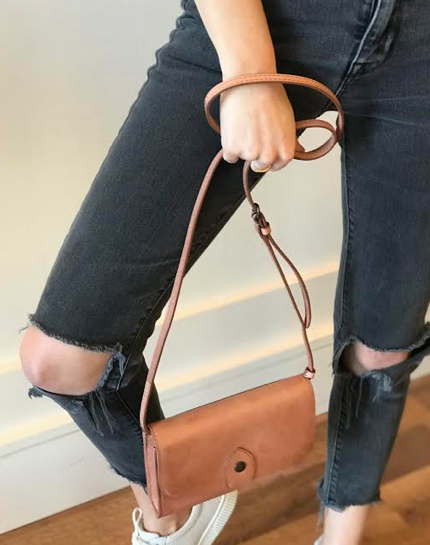 Melissa Wallet Crossbody- Dusty Rose