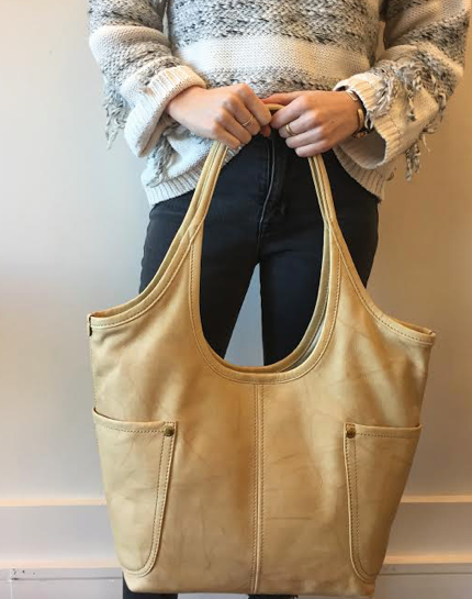 Campus Rivet Shoulder Bag-Bananna