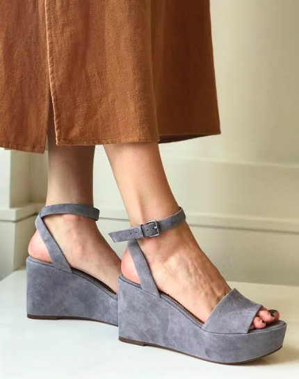 Felix Platform Wedge- Steel Grey