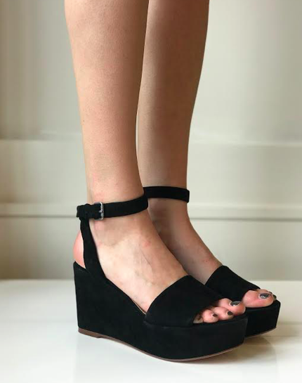 Felix Platform Wedge- Black