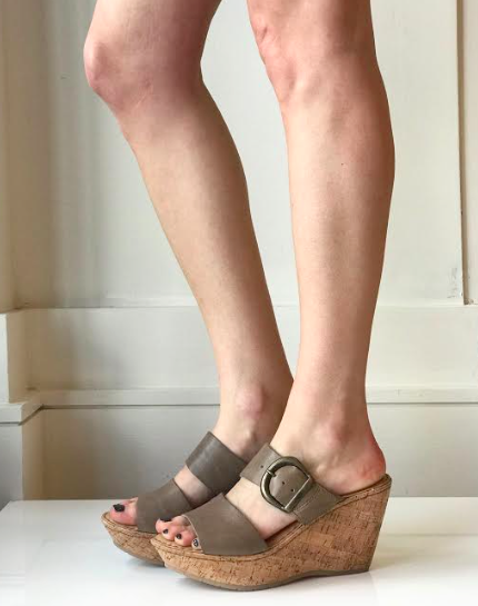 Emmy Wedge Sandal- Taupe