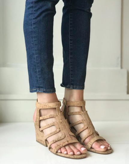 Lina Wedge- Natural Cork