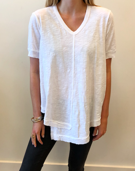 Shifted Shirttail Tunic - White