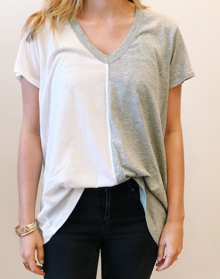 Color Mix V-Neck Tee