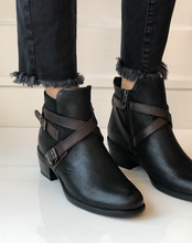 Alessia Bootie - Black Leather