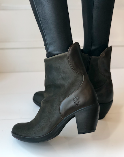 Hota Slouch Bootie - Olive