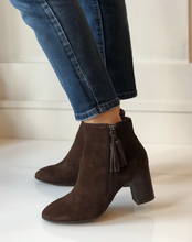Michie Block Heel Bootie - Brown