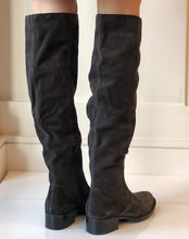 Cricket Knee High Boot - Dark Grey Suede