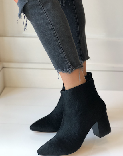 Vania boot - Black Calf Hair