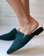 IIaria Pony Hair Mule - Pine Green