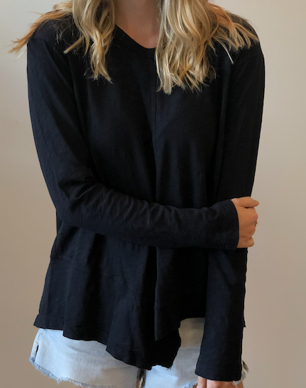 Slouchy Shifted Tunic - Abyss