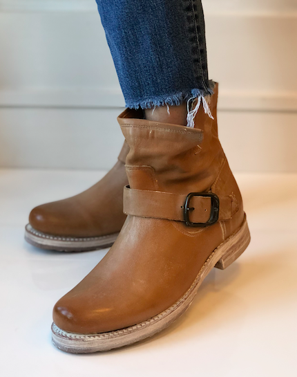 Veronica Bootie - Tan Leather