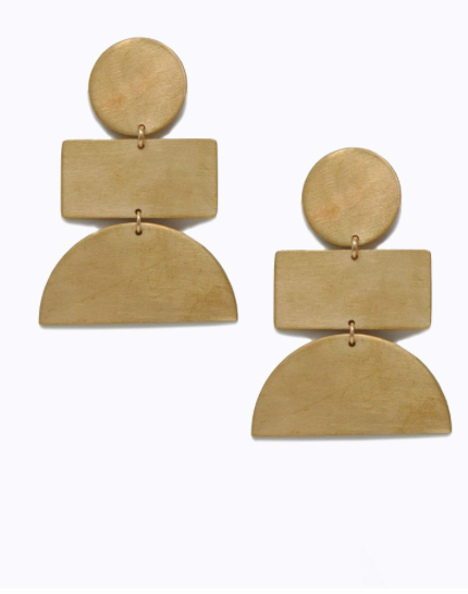 Totem Earrings - Gold