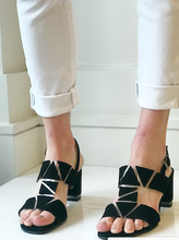Triangle Cut Out Heels