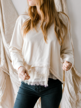 Wilt - Ruffled Cream Sweater