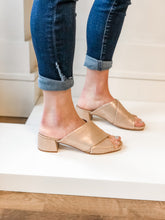 Sheer 35 Mule- Gold Metallic