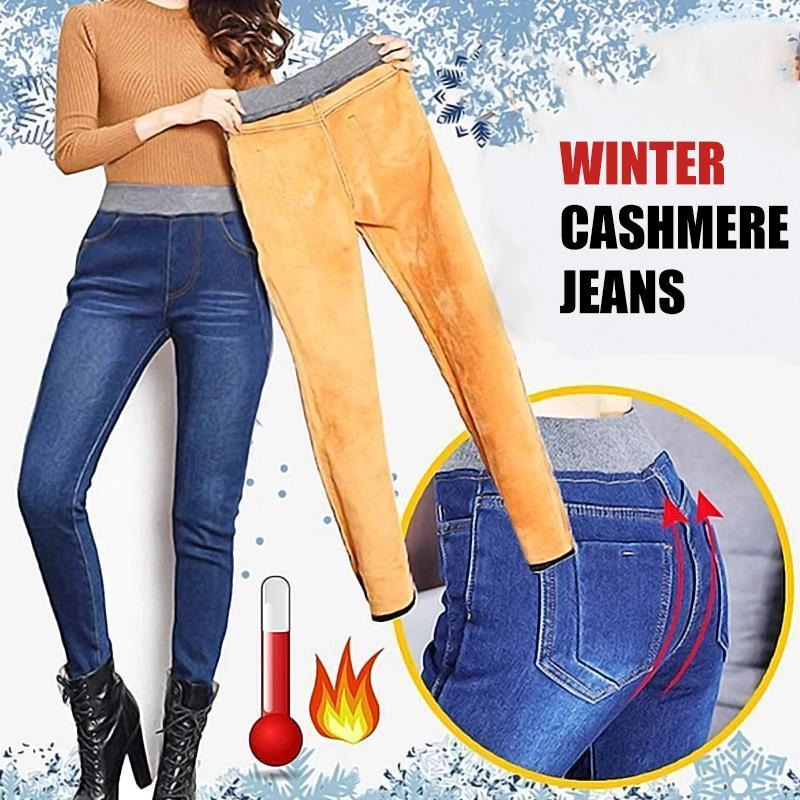Winter Cashmere Jeans For Women