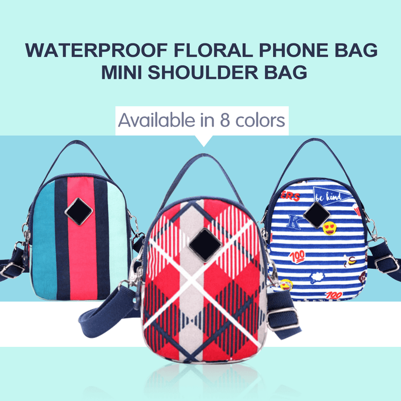 Waterproof Floral Phone Bag Mini Shoulder Bag