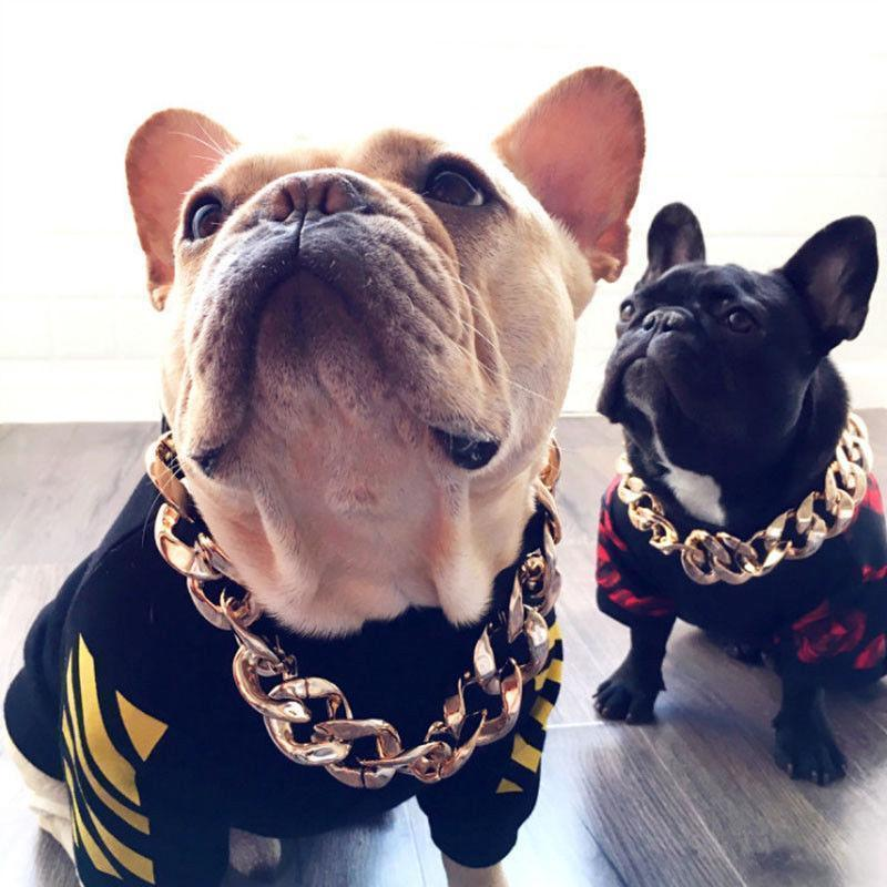 Cadevot™ Thick Gold Chain Pets Safety Collar