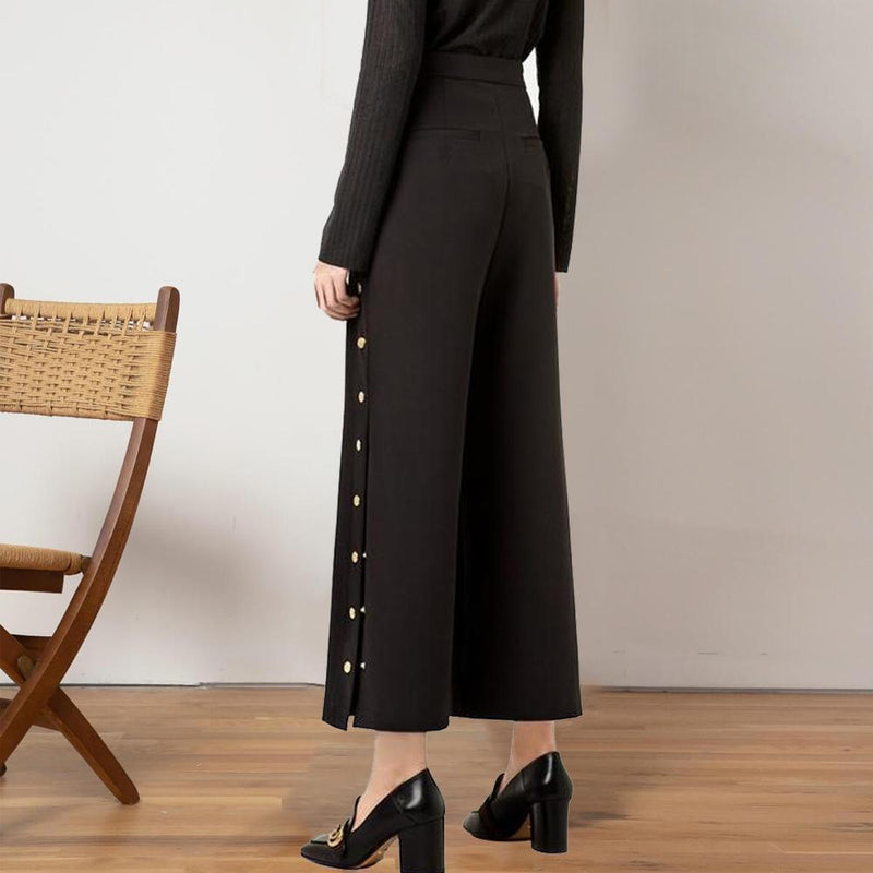 Cadevot™ Button Side Slit Pants