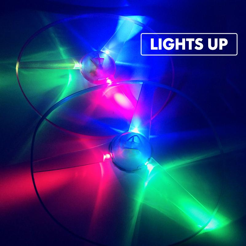 LED Light-Up Flying Disc Toy With Launcher