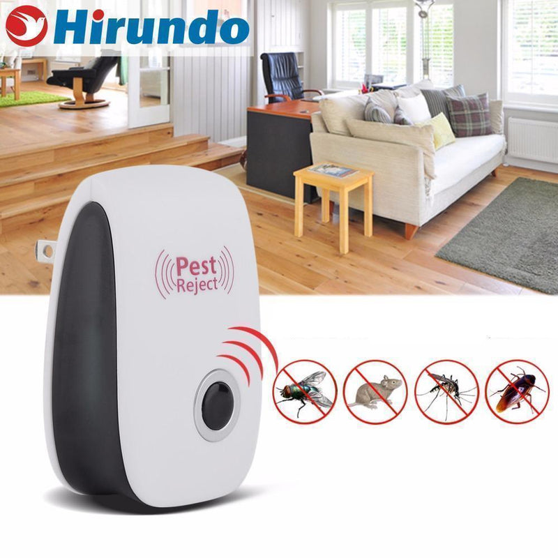 Hirundo Ultrasonic Insects/Rodent Pest Repellent-2+1Pack