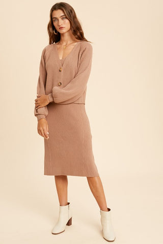 Sarah Cardigan and Dress Set
