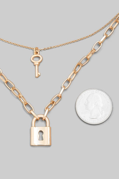 Padlock Layered Necklace