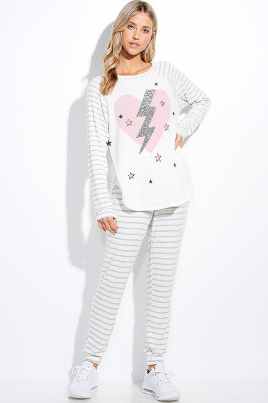Lightening Loungewear Set
